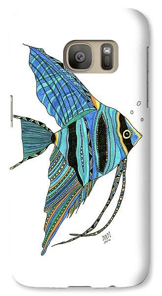 Blue Anglefish Galaxy S7 Case