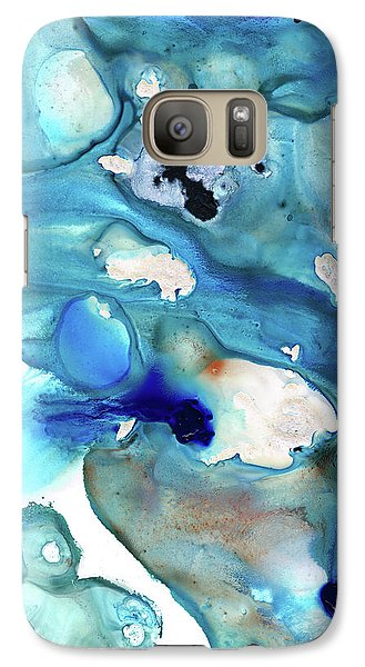 Galaxy Case featuring the painting Blue Art - The Meaning Of Life - Sharon Cummings by Sharon Cummings