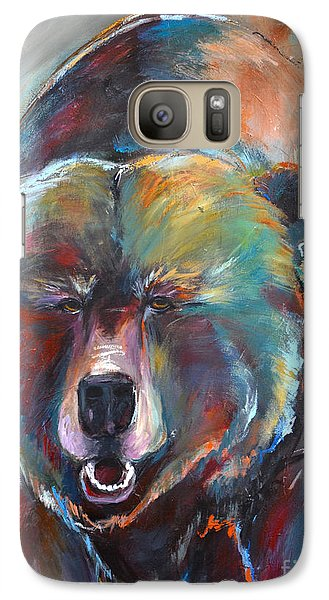 Galaxy Case featuring the painting Blue Bear by Cher Devereaux