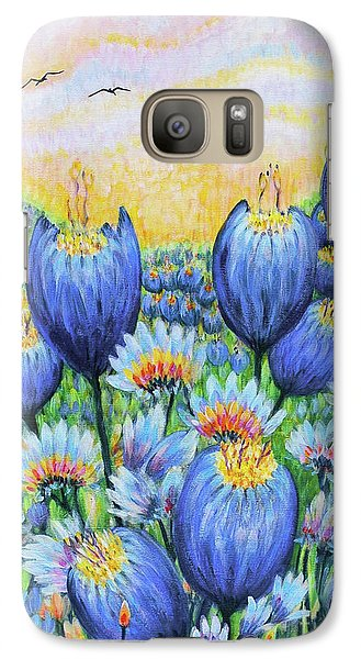 Galaxy Case featuring the painting Blue Belles by Holly Carmichael