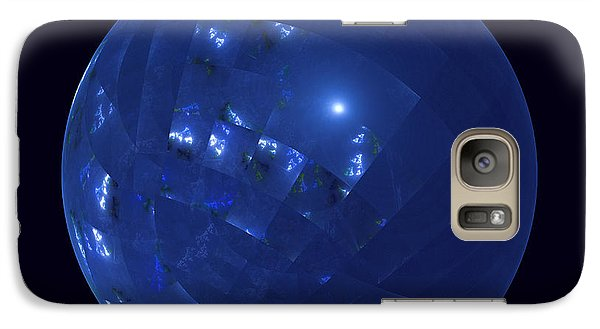 Blue Big Sphere With Squares Galaxy S7 Case