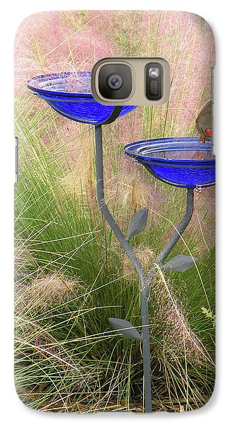 Galaxy Case featuring the photograph Blue Bird Bath by Rosalie Scanlon