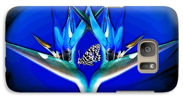 Galaxy Case featuring the photograph Blue Bird Of Paradise by Joyce Dickens