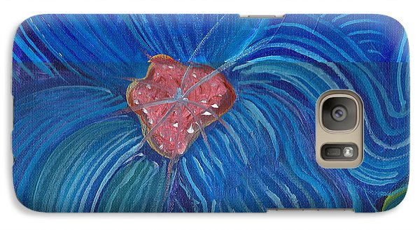 Galaxy Case featuring the painting Blue Blilliance by John Keaton