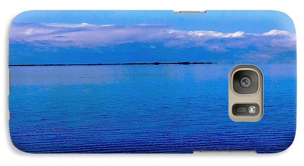 Galaxy Case featuring the photograph Blue Blue Sea by Vicky Tarcau