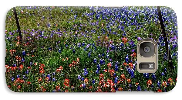 Galaxy Case featuring the photograph Bluebonnets #0487 by Barbara Tristan