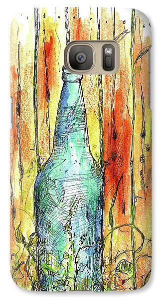 Galaxy Case featuring the painting Blue Bottle by Cathie Richardson