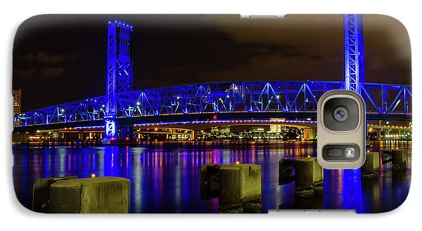 Galaxy Case featuring the photograph Blue Bridge 1 by Arthur Dodd