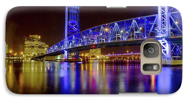 Galaxy Case featuring the photograph Blue Bridge 2 by Arthur Dodd