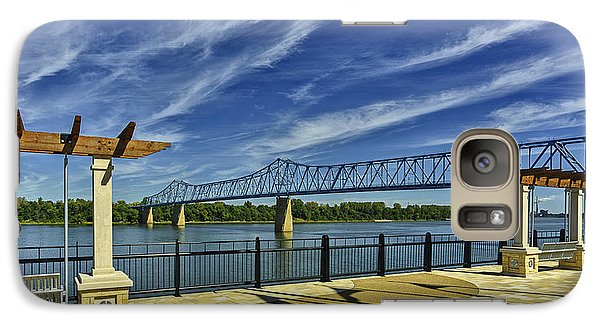 Galaxy Case featuring the photograph Blue Bridge And Smothers Park by Wendell Thompson
