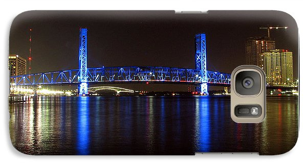 Galaxy Case featuring the photograph Blue Bridge Of Jacksonville by Farol Tomson