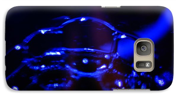 Galaxy Case featuring the digital art Blue Bubbles by Jana Russon