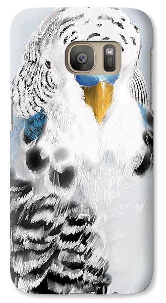 Parakeet Galaxy S7 Case - Blue Budgie by KC Gillies