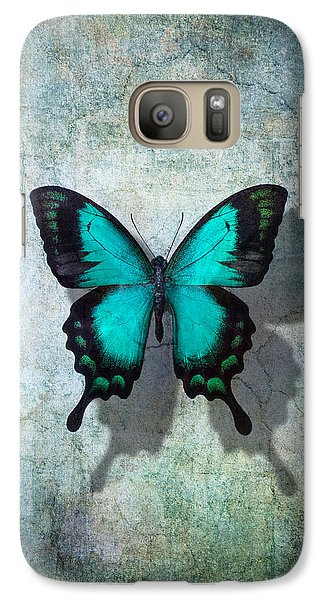 Blue Butterfly Resting Galaxy S7 Case