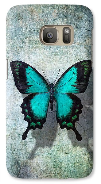 Animals Galaxy S7 Case - Blue Butterfly Resting by Garry Gay