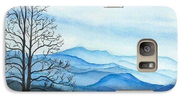 Galaxy Case featuring the painting Blue Calm by Rachel Hames