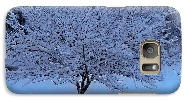 Galaxy Case featuring the photograph Blue Christmas by Betty Northcutt