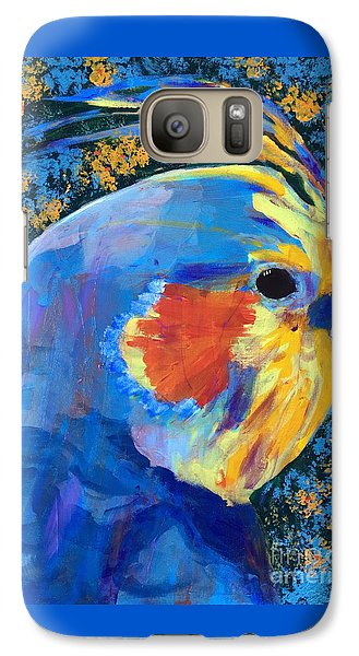 Galaxy Case featuring the painting Blue Cockatiel by Donald J Ryker III