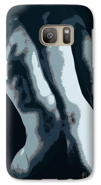 Galaxy Case featuring the photograph Blue Contour by Robert D McBain