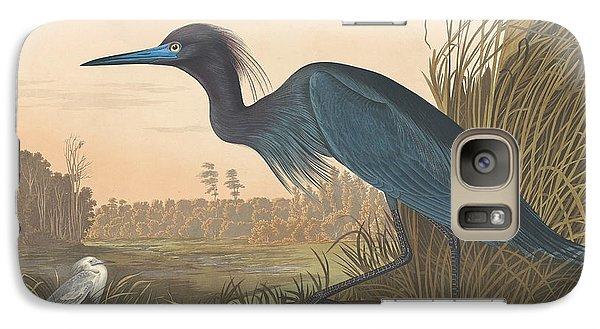Crane Galaxy S7 Case - Blue Crane Or Heron by John James Audubon