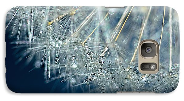 Blue Dandelion Dew By Kaye Menner Galaxy S7 Case by Kaye Menner