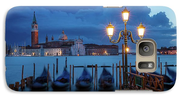 Galaxy Case featuring the photograph Blue Dawn Over Venice by Brian Jannsen