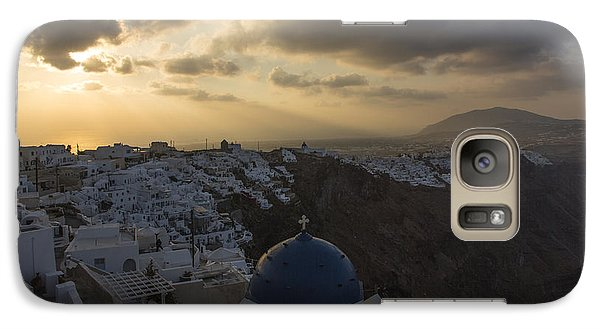 Galaxy Case featuring the tapestry - textile Blue Dome - Santorini by Kathy Adams Clark