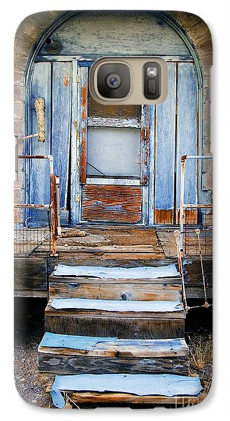 Galaxy Case featuring the photograph Blue Door Of Riley by Craig J Satterlee