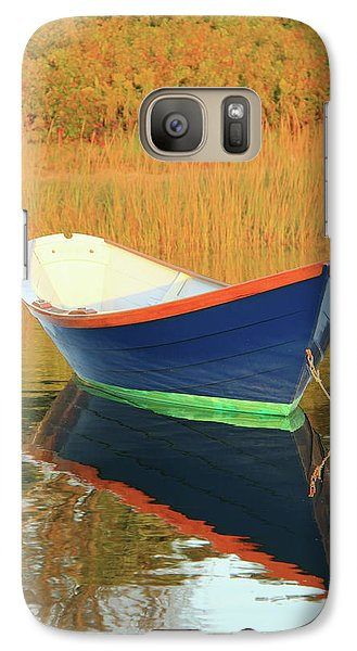 Galaxy Case featuring the photograph Blue Dory by Roupen  Baker