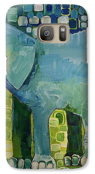 Galaxy Case featuring the painting Blue Elephant by Donna Howard
