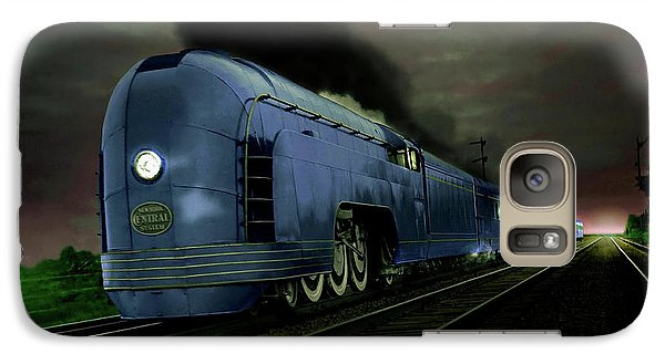 Galaxy Case featuring the photograph Blue Express by Steven Agius