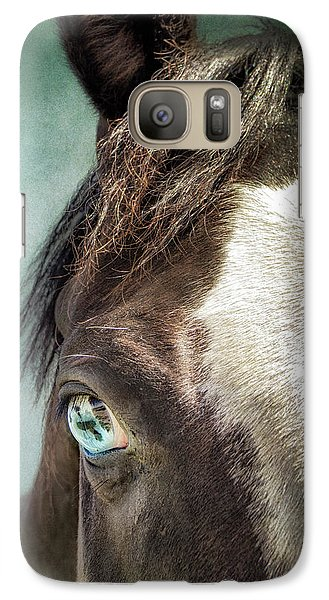 Galaxy Case featuring the photograph Blue Eyes by Debby Herold