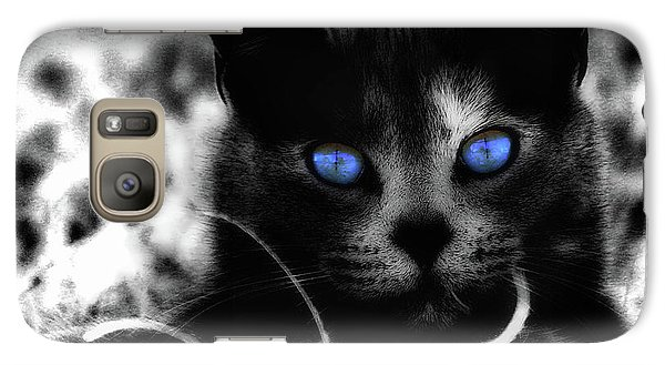 Galaxy Case featuring the photograph Blue Eyes by Yvonne Emerson AKA RavenSoul