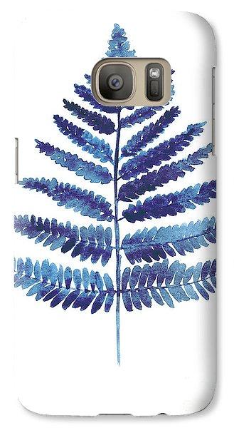 Garden Galaxy S7 Case - Blue Ferns Watercolor Art Print Painting by Joanna Szmerdt