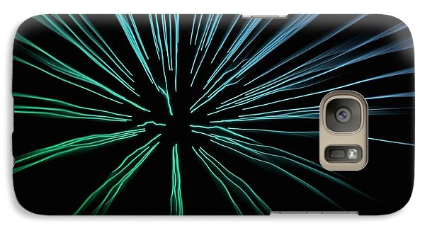 Galaxy Case featuring the photograph Blue Firework by Chris Berry