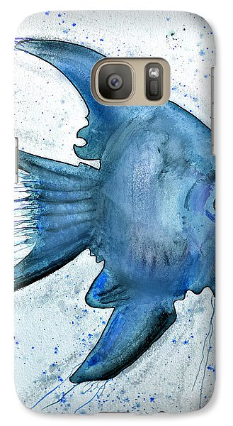 Galaxy Case featuring the photograph Blue Fish by Walt Foegelle
