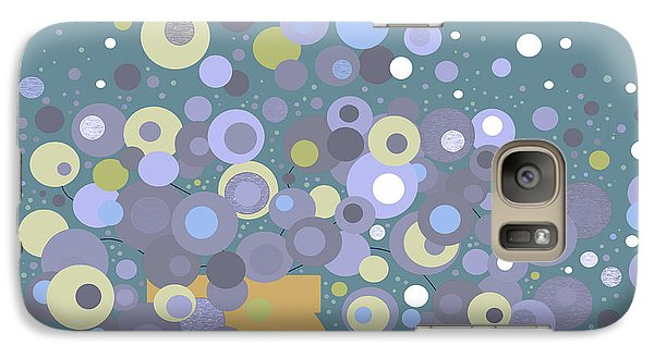 Galaxy Case featuring the digital art Blue Flora  by Val Arie