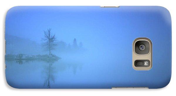 Galaxy Case featuring the photograph Blue Fog At Skaha Lake by Tara Turner