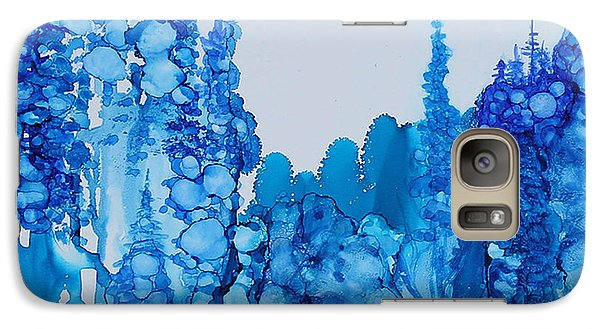 Galaxy Case featuring the painting Blue Forest by Suzanne Canner