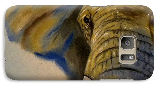 Galaxy Case featuring the painting Blue Giant by Edwin Alverio