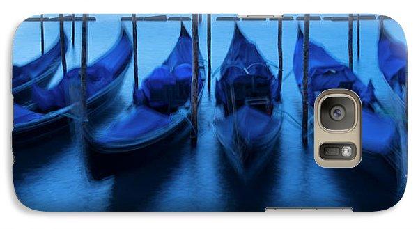 Galaxy Case featuring the photograph Blue Gondolas by Brian Jannsen