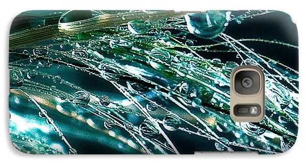 Galaxy Case featuring the photograph Blue Grass by Artist and Photographer Laura Wrede