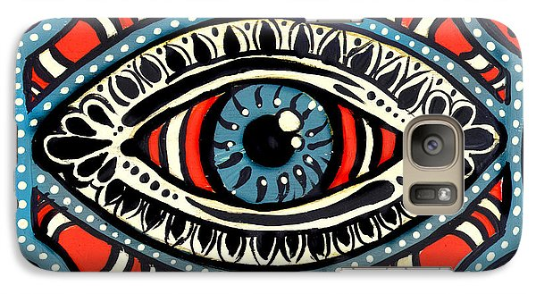 Galaxy Case featuring the painting Blue Gypsi Eye by Nada Meeks