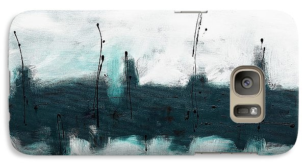 Galaxy Case featuring the painting Blue Harbour by Carmen Guedez