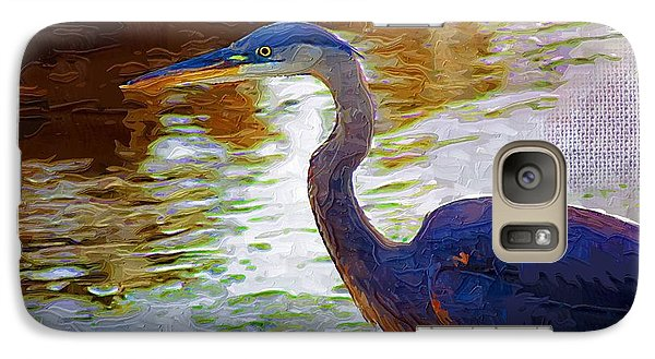 Galaxy Case featuring the photograph Blue Heron 2 by Donna Bentley