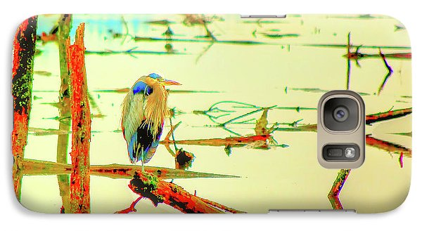 Galaxy Case featuring the photograph Blue Heron by Dale Stillman