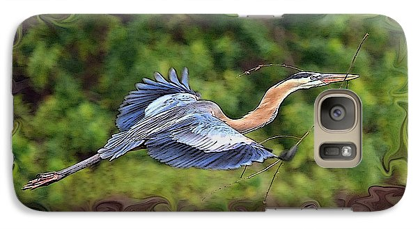 Galaxy Case featuring the photograph Blue Heron Flight by Shari Jardina