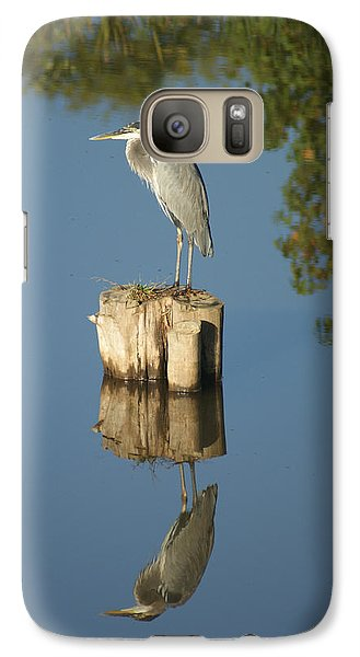 Galaxy Case featuring the photograph Blue Heron by Heidi Poulin