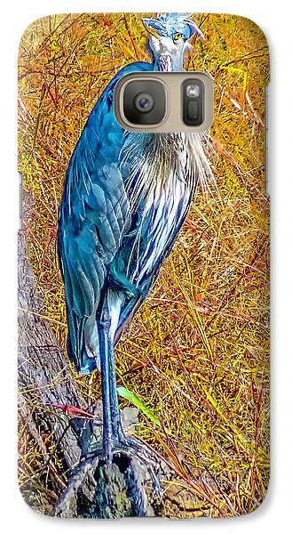 Galaxy Case featuring the photograph Blue Heron In Maryland by Nick Zelinsky