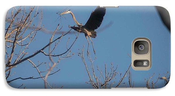 Galaxy Case featuring the photograph Blue Heron Landing by David Bearden